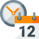 Calendar Clock Icon 128x128
