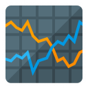 Chart Line Icon 128x128