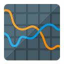 Chart Spline Icon 128x128