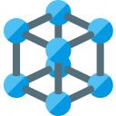 Cube Molecule 2 Icon 128x128