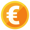 Currency Euro Icon 128x128