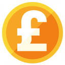 Currency Pound Icon 128x128