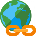 Iconexperience G Collection Earth Link Icon