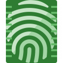 Fingerprint Scan Icon 128x128