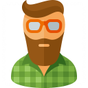 Hipster Icon 128x128