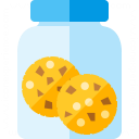Jar Cookies Icon 128x128