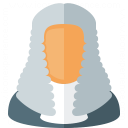 Judge Wig Icon 128x128