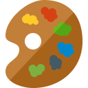 Painters Palette Icon 128x128