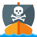 Pirates Ship Icon 128x128