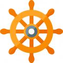 Ships Wheel Icon 128x128