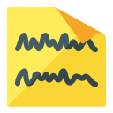 Sticky Note Text Icon 128x128