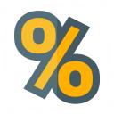 Symbol Percent Icon 128x128