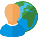 User Earth Icon 128x128