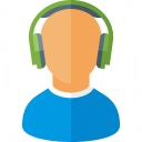 User Headphones Icon 128x128