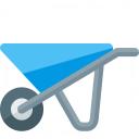 Wheelbarrow Icon 128x128