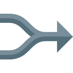 Arrow Merge Icon 256x256