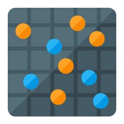Chart Dot Icon 256x256