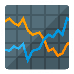 Chart Line Icon 256x256