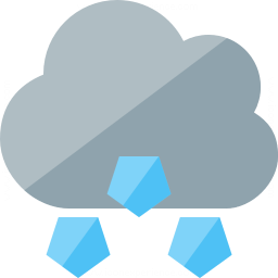 Cloud Hail Icon 256x256