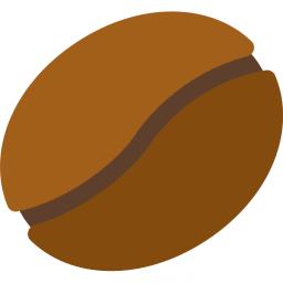 Coffee Bean Icon 256x256