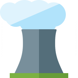 Cooling Tower Smoke Icon 256x256