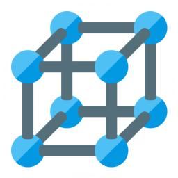 Cube Molecule Icon 256x256