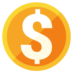 Currency Dollar Icon 256x256