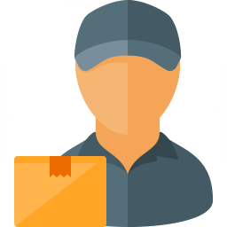 Delivery Man Parcel Icon 256x256