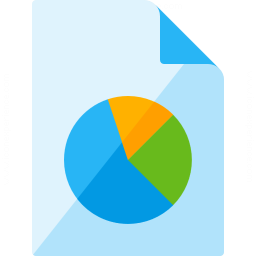 Document Chart Icon 256x256