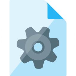 Document Gear Icon 256x256