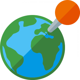 Earth Location Icon 256x256