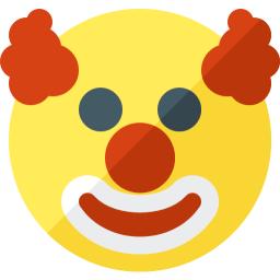 Emoticon Clown Icon 256x256
