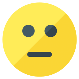 Emoticon Straight Face Icon 256x256