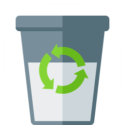 Iconexperience G Collection Garbage Half Full Icon