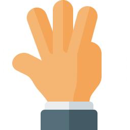 Hand Four Icon 256x256