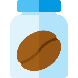 Jar Coffee Bean Icon 256x256