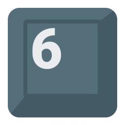 Keyboard Key 6 Icon 256x256