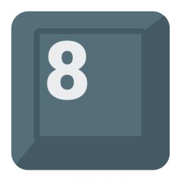Keyboard Key 8 Icon 256x256