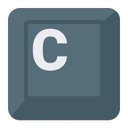 Keyboard Key C Icon 256x256