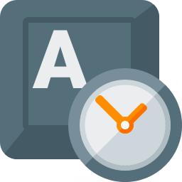 Keyboard Key Clock Icon 256x256