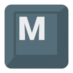 Keyboard Key M Icon 256x256