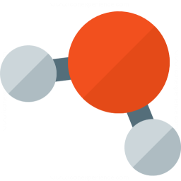 Molecule H 2o Icon 256x256