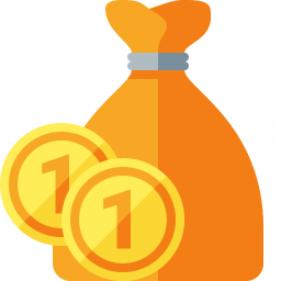 Moneybag Coins Icon 256x256