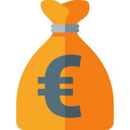 Moneybag Euro Icon 256x256