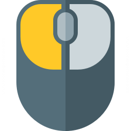 Mouse 2 Left Button Icon 256x256