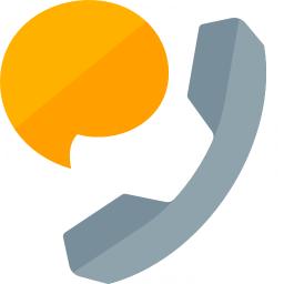 Phone Speech Bubble Icon 256x256