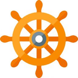 Ships Wheel Icon 256x256