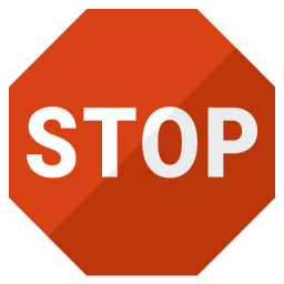 Sign Stop Icon 256x256