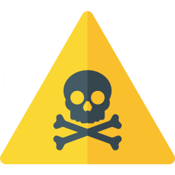 Sign Warning Toxic Icon 256x256