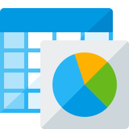 Spreadsheet Chart Icon 256x256